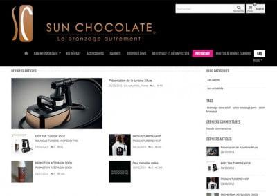 creation boutique en ligne grenoble sun chocolate
