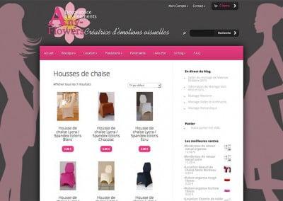 Création du site internet de la boutique en ligne Anyflowers à Valence