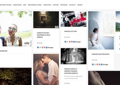 creation du site internet de photographe a Romans