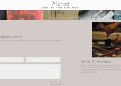 creation du site internet manoe-toiles.fr