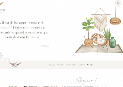 Création du site vitrine Valérie Chartier