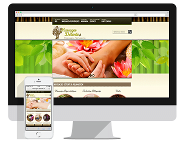 Création du site vitrine Massages Détente à Lens