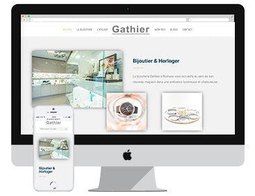Création du site vitrine bijouterie gathier