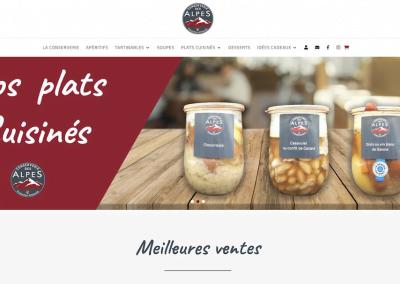 Création boutique en ligne Conserverie des Alpes